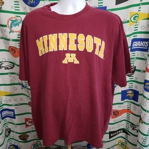 Minnesota Gophers Shirt Retro Tee XXL NCAA Jerzees